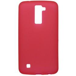 Matné gumené puzdro LG K10, červené