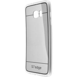 Zrkadlové gumené puzdro Samsung Galaxy S7 Edge, čierne