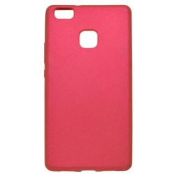 Gumené puzdro Huawei P9 Lite, ružové, zdobené trblietkami