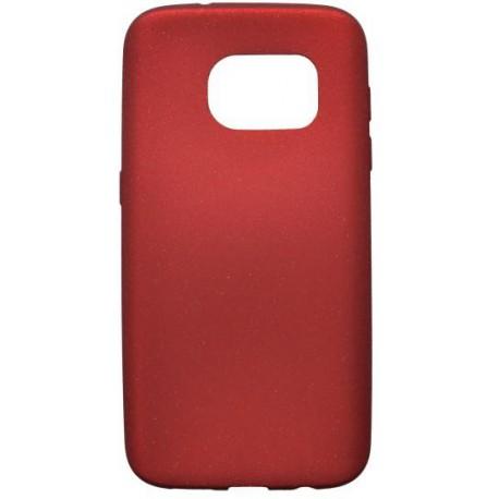 Gumené puzdro s trblietkami Samsung Galaxy S7, červené