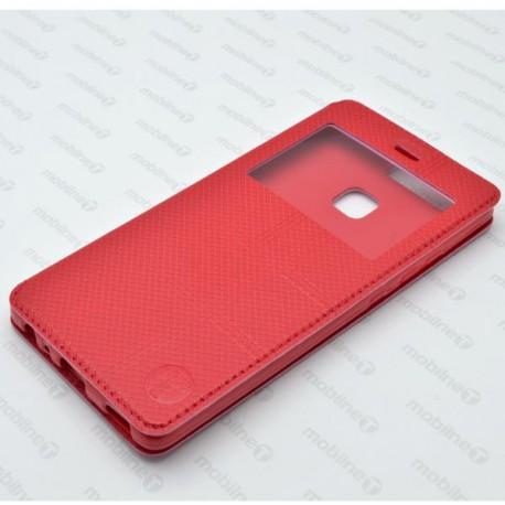 Knižkové puzdro s okienkom Huawei P9, červené