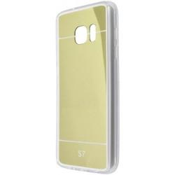 Zrkadlové gumené puzdro Samsung Galaxy S7, zlaté