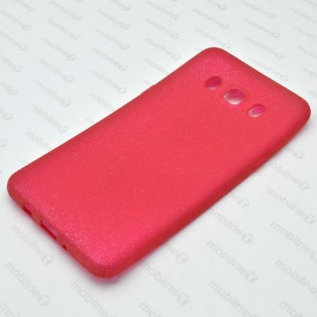 Gumené puzdro s trblietkami Samsung Galaxy J5 2016, ružové