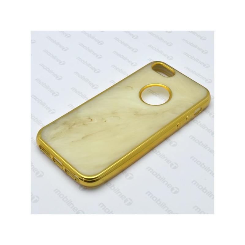 ... Mramorované gumené puzdro iPhone 5 béžové 08e29bcd45f