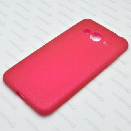 Gumené puzdro s trblietkami Samsung Galaxy J3 2016, ružové
