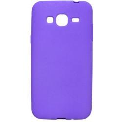 Gumené puzdro s trblietkami Samsung Galaxy J3 2016, fialové