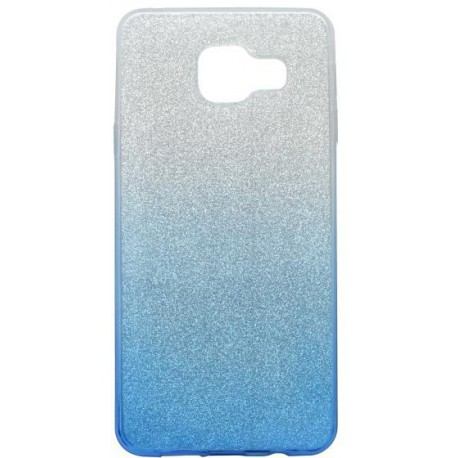 Farebné trblietavé puzdro Samsung Galaxy A3 2016, modré