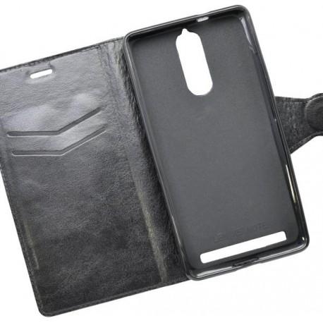 Knižkové puzdro bočné Lenovo Vibe K5 Note, čierne