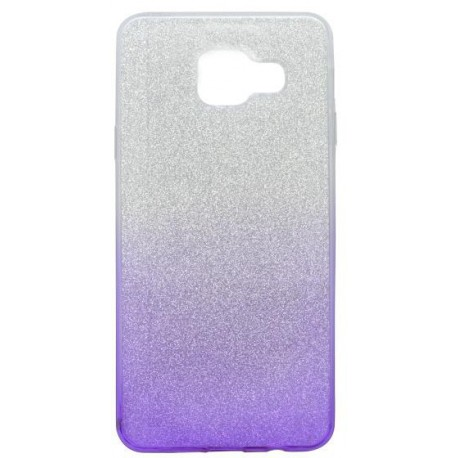 Farebné trblietavé puzdro Samsung Galaxy A3 2016, fialové