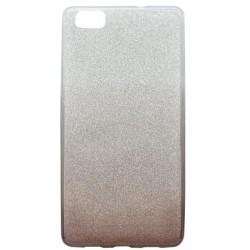 Farebné trblietavé puzdro Huawei P8 Lite, tmavofialové