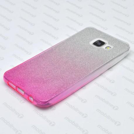 Farebné trblietavé puzdro Samsung Galaxy A3 2016, ružové