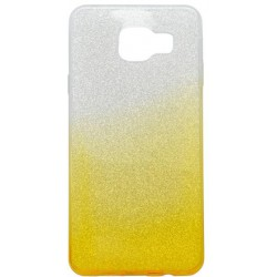 Farebné trblietavé puzdro Samsung Galaxy A3 2016, žlté