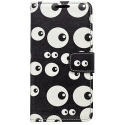 Vzorované knižkové puzdro Samsung Galaxy A5 2016, čierna, vzor oči