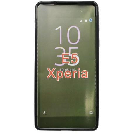 Gumené puzdro S-line Sony Xperia E5, čierne