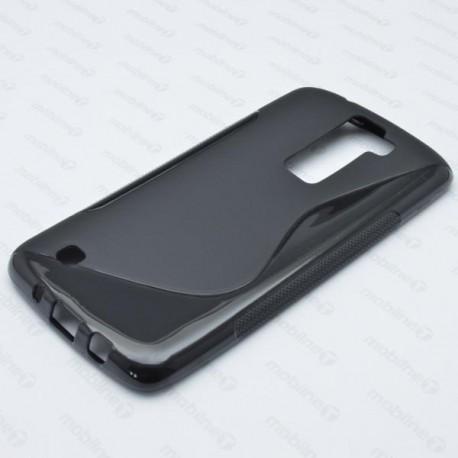 Gumené puzdro S-line LG K8, čierne