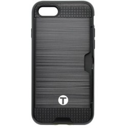 Plastové puzdro a gumovým vnútrom iPhone 7, čierne