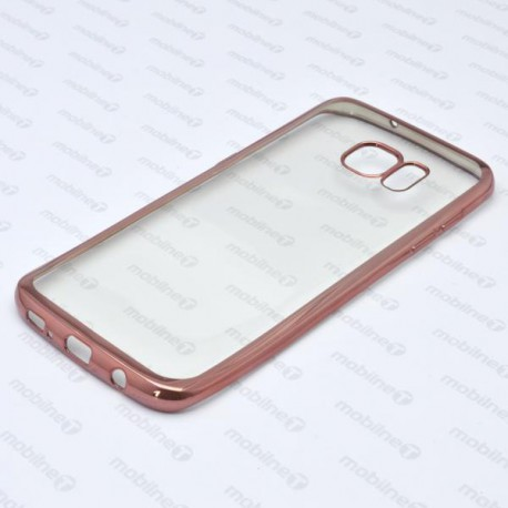 Priehľadné puzdro Frame Samsung Galaxy S7 Edge, medený rám