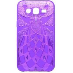 Vzorované puzdro Golden Pleasure Samsung Galaxy J5, fialové
