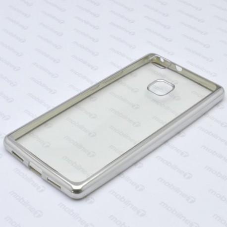 Priehľadné puzdro Frame Huawei P9 Lite, strieborný rám