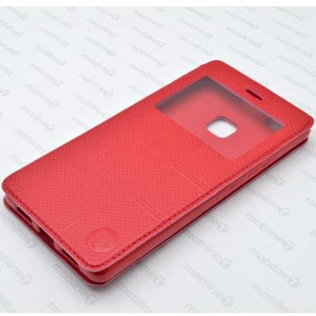 Knižkové puzdro s okienkom Huawei P9 Lite, červené