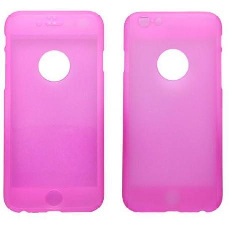 Plastové puzdro 3D a sklenená fólia iPhone 6, ružové