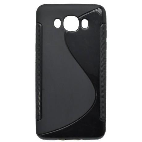 Gumené puzdro S-Line Samsung Galaxy J7 2016, čierne