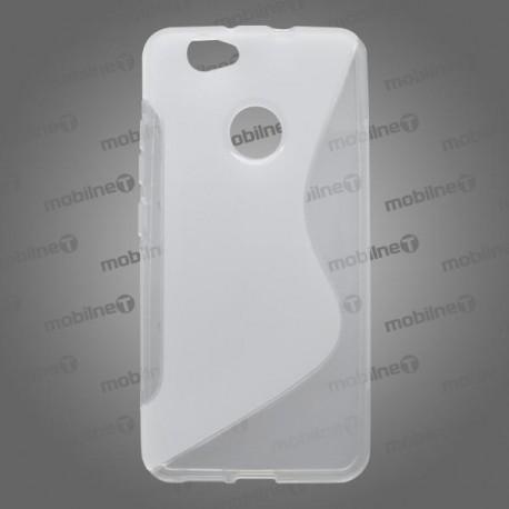 Gumené puzdro / obal S-Line Huawei Nova, transparentné