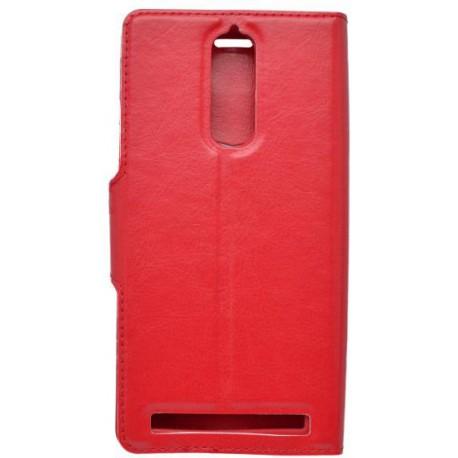 Bočné knižkové puzdro Lenovo Vibe K5 Note, červené
