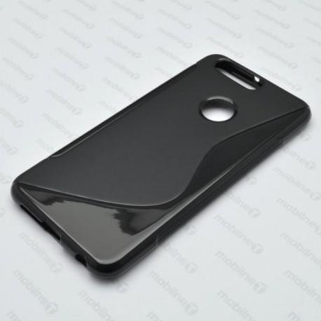 Gumené puzdro S-line Huawei Honor 8, čierne