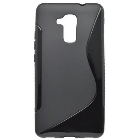Gumené puzdro / obal S-Line Huawei Honor 7 Lite, čierne