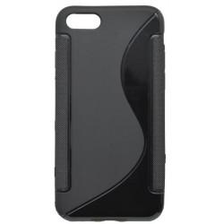 Gumené puzdro / obal S-Line iPhone 7, čierne