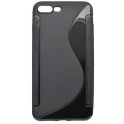 Gumené puzdro / obal S-Line iPhone 7 Plus, čierne