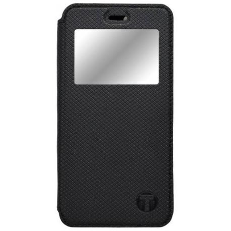 Bočné knižkové puzdro s okienkom Lenovo P2, čierne