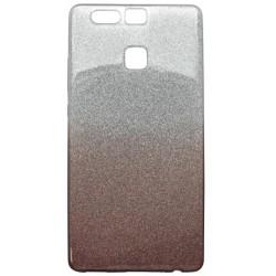 Ochranné puzdro / obal s trblietkami Huawei P9, tmavofialové