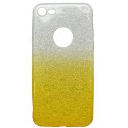Farebné trblietavé puzdro iPhone 7, žlté