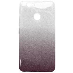 Ochranné puzdro / obal s trblietkami Huawei Nova, tmavofialové