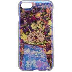 Vzorované gumené puzdro / obal iPhone 7, kvety
