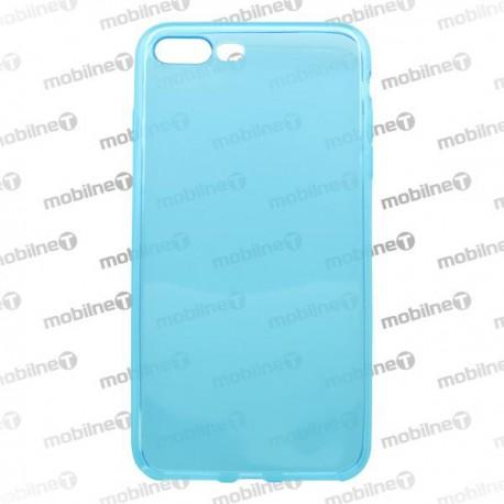 Silikónové puzdro / obal iPhone 7 Plus, modré, anti moisture - nelepivé