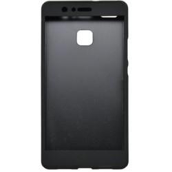 Plastové 3D puzdro s temperovaným sklom Huawei P9 Lite, čierne