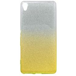 Ochranné puzdro / obal s trblietkami Sony Xperia XA, žlté