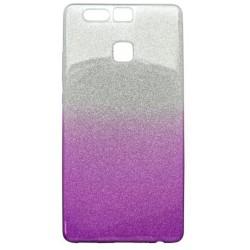 Ochranné puzdro / obal s trblietkami Huawei P9, fialové