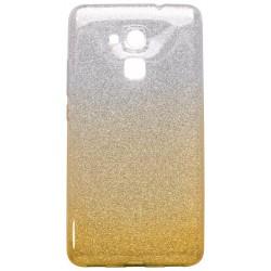 Ochranné puzdro / obal s trblietkami Huawei Honor 7 Lite, žlté