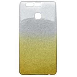 Ochranné puzdro / obal s trblietkami Huawei P9, žlté