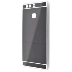 Zrkadlové gumové puzdro Huawei P9, čierne