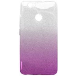 Ochranné puzdro / obal s trblietkami Huawei Nova, fialové