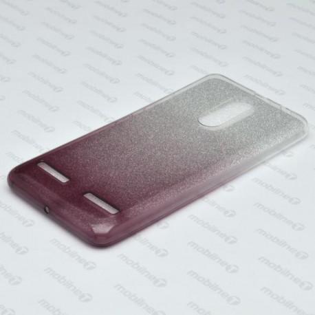 Ochranné puzdro / obal s trblietkami Lenovo K6, K6 Power, tmavofialové