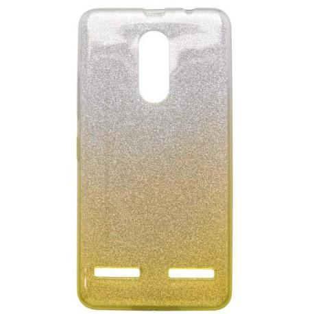 Ochranné puzdro / obal s trblietkami Lenovo K6, K6 Power, žlté