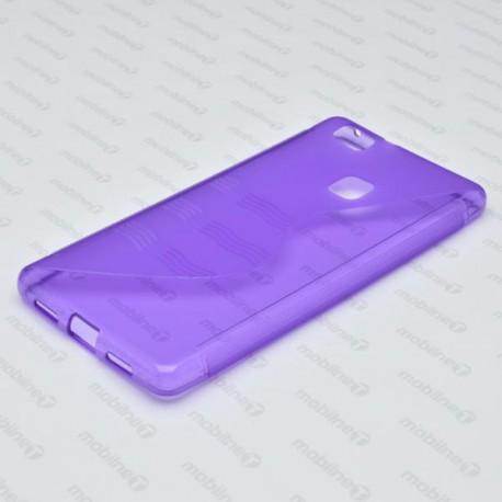Gumené puzdro / obal S-Waves Huawei P9 Lite, fialové
