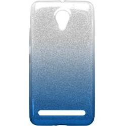 Ochranné puzdro / obal s trblietkami Lenovo Vibe C2, modré
