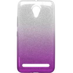 Ochranné puzdro / obal s trblietkami Lenovo Vibe C2, fialové